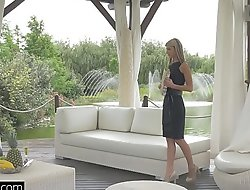 Glamkore - Coddle Gina Gerson in luxurious DP session