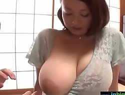 Busty japanese cheating wife groped and drilled firm - what?s her name?