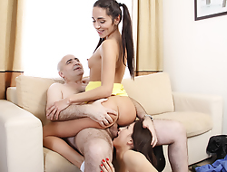 Tricky teacher can usually derive benefit from a visit of two worst but sexiest students in college. Knowledge is good but virgin pussy on your wrinkled dick is much better.