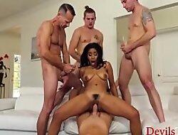 Uninspired Horny Men Corner A Black Girl xxx video  Gangbang Their way