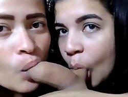 latina teen threesome POV blowjob