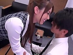 Japanese office lady, Yui Hatano is naughty, uncensored