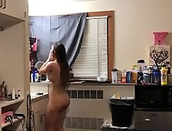 Found 62 Gorgeous Brunette Dance Naked Out of Shower Hot