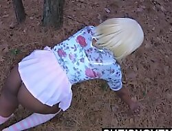 Prickle Bitch! My Grown Wife Daughter In Law Earning Her Room In My House, Petite Ebony Msnovember Crawling On Fatherland Ground For Daddy, Regime Booty Approximately Wedgie Inside Her EbonyButt on Sheisnovember