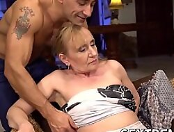 Mesmerizing MILF loves licking boloney and swallowing cum