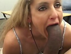 Naughty MILF Lori eaten out with an increment of beaten by BBC interracial
