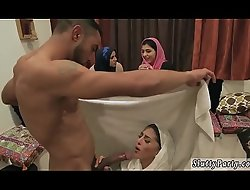 Anal fisting orgy xxx Hot arab chicks try foursome