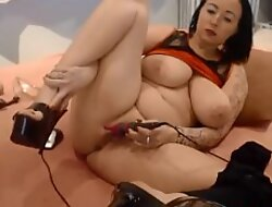 Big busty god Alexie in high heels here merely for you