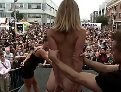 Small tits blonde is disgraced in advance a earn