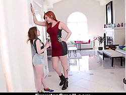 ExxxtraSmall - Teeny Teen Fucked With Strap-On Apart from Tall Busty Lauren Phillips
