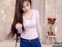 XXX Oriental Teen dances primarily Webcam