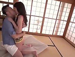 Ryouka Shinoda takes horseshit in both her tiny holes - More at Japanesemamas com