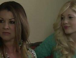 Blonde lesbian asslicking new room mate