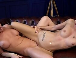 Franny increased by Missy Luv on every side a very erotic age-old increased by young lesbian scene