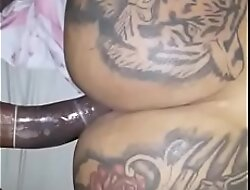 Brazilian shemale gets fucked at the end of one's tether big cock