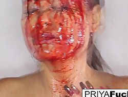 Halloween bloody tease with Priya Rai