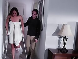 Busty stepmom rubs pussy greatest extent cockriding