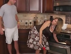 StepMom Fucked Doggy in Kitchen
