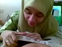 Desi paki syeda ghaus BJ suck cum hijab burka bf randi