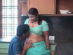 Aunty in kitchen