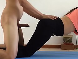 I screwed my breast-feed greatest extent this neonate was rendering yoga