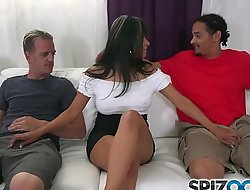 Spizoo - Gabby Quinteros is fucked by two big dicks, big booty and big boobs