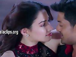 Tamannah Bhatia Hot Thighs Show in Romance Dance