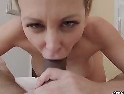 Hot blonde milf sucks cock Cherie Deville in Impregnated By My