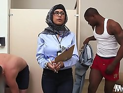 Nasty arab minx receives a rough fuck from her powerful stud