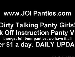 I truancy in the matter of wrap my panties around your cock JOI