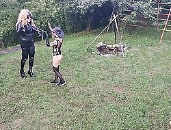 Horse training for blonde TV TS cunt by sexy goth domina pt2 HD