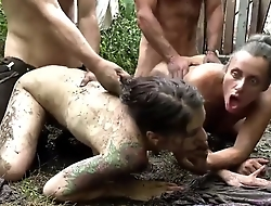 Filthy family - exploitive family orgy in the mud