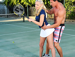 Katie Summers & Marco Banderas all over Naughty Athletics