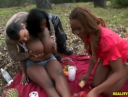 Huge titted ebony sluts Maserati with the addition of Tori Taylor stay away from horny