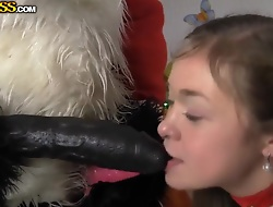 Pretty coddle has anal sex in all directions Santa Panda
