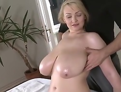 Fetching busty lady in sweet massage sex video