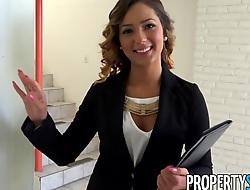 PropertySex Beautiful Spokesperson Fucks Home Proprietor to Sign Agreement