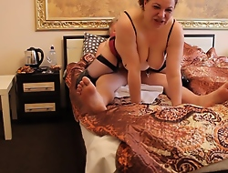 Russian Arab Ugly MILF Whore in boots & basque fucks