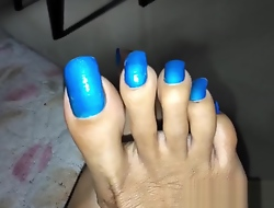 Scratching my soles with my beautiful nails