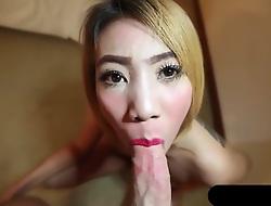 Thai Girl All round Tattoo Sucking White Flannel