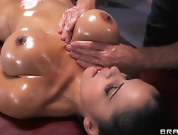 Young brunette generalized with tight and very big Bristols Diamond Kitty being oiled hither and fucked in ass away from Johnny Sins.
