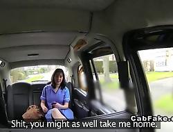 Fat British nurse banged less fake hansom cab