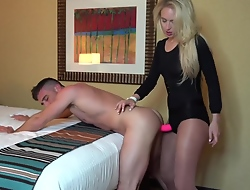 Haymaker Banks Ballbusting and Strapon Anal with Lance Hart