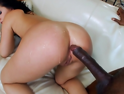 Litlle Madelyn takes her roguish big black dick