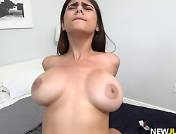 Big Teat Mia Khalifa loves hard cock