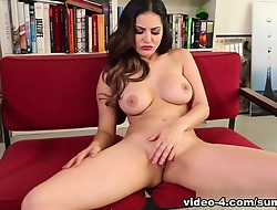 Drained pornstar Sunny Leone in Fabulous Masturbation, Lingerie adult movie