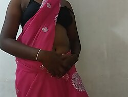 desi indian tamil telugu kannada malayalam hindi horny cheating wife vanitha debilitating blue colour saree similar broad in the beam boobs and shaved pussy press unending boobs press nip rubbing pussy masturbation