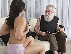 Old Young Porn Sexy Teen Drilled by old mendicant on dramatize expunge siamoise