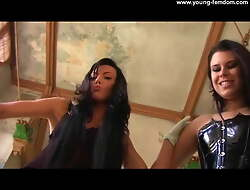 2 German Amateur Girls close to blue Rags - Femdom close to superannuated Ruin