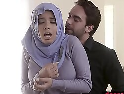 Muslim teen bitch relative to hijab anal fucked off out of one's mind deserted agent